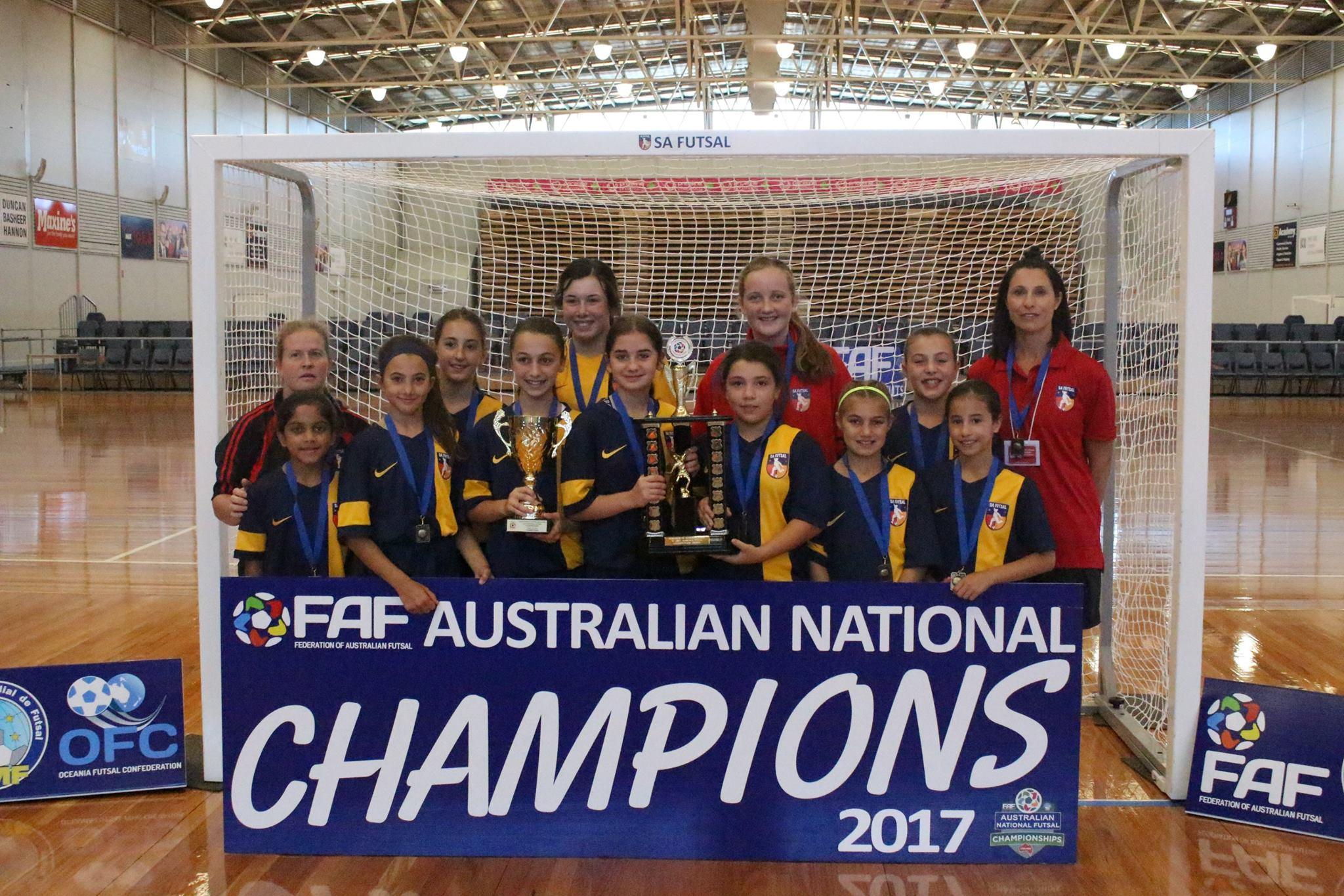 12 girls Champions