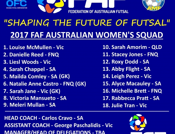 FAF NAME THEIR WOMEN SQUAD FOR THE WORLD CUP