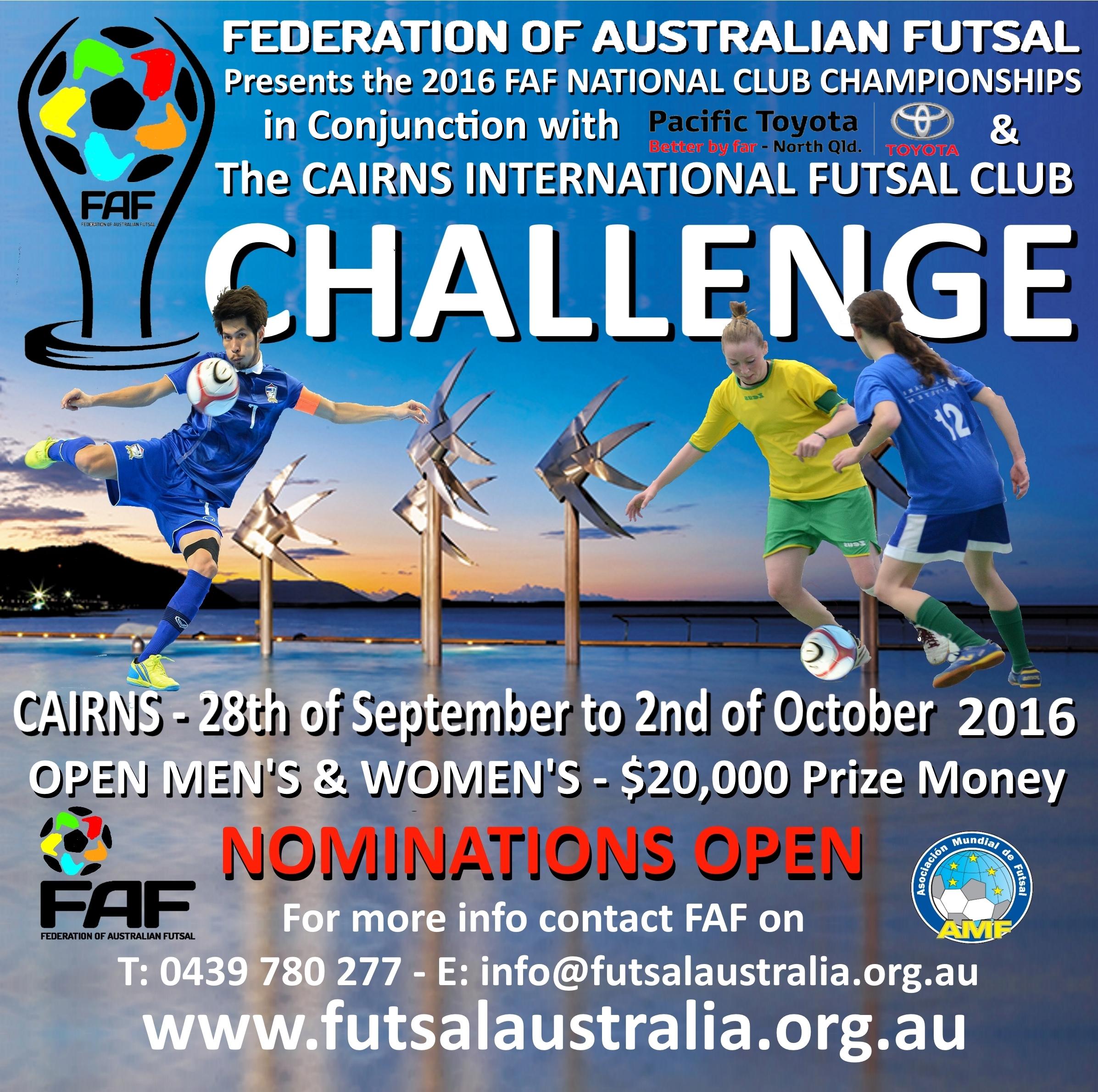 ab92acf3b FAF ANNOUNCES THE NATIONAL FUTSAL CLUB CHAMPIONSHIPS (Men s   Women s)
